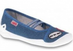 Dievčenské plátené papuče BEFADO  116Y233