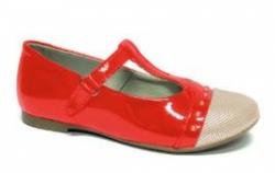 Lakované dievčenské balerínky  RENBUT 23-3299 červené