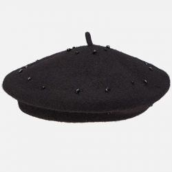 Dievčenská baretka čierna MAYORAL 10510-064 black