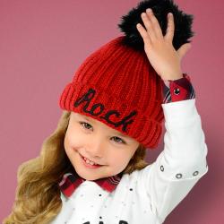 Dievčenská zimná čiapka MAYORAL 10511-035 Red