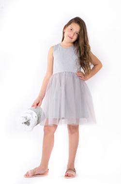 Tylové dievčenské šaty MM 531 tyl