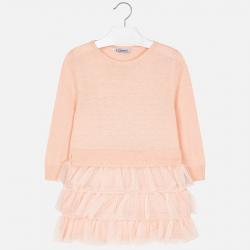 Dievčenské šaty s tylom 4930-069 nude