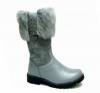 Dievčenské zimné čižmy s pravou zajačou kožušinkou RENBUT 23-4382 sivé