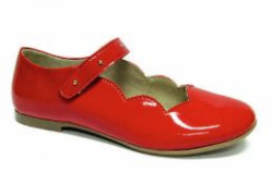 Kožené dievčenské balerínky  RENBUT 33-4356 červené