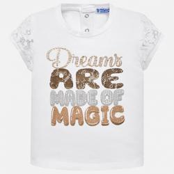 MAYORAL dievčenské tričko 1009-071 white