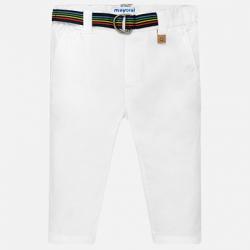 MAYORAL chlapčenské nohavice s opaskom 1526-084 White