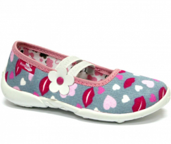 616f09ad3c825 Textilné dievčenské papuče RENBUT 414 pery