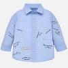 Chlapčenská košeľa s lietadlami MAYORAL 2138-023 light blue