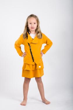 Dievčenská bavlnená sukňa  MM 551 yellow