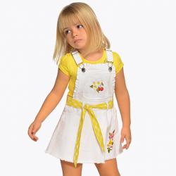 Dievčenská  sukňa na traky MAYORAL 3906-065 white