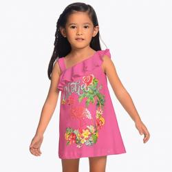 Dievčenská tunika šaty s potlačou MAYORAL 3953-028 chewing