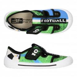 Chlapčenské papuče s koženou stielkou 3F SATURN FOOTBAL