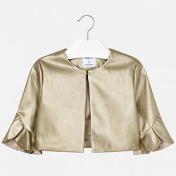 MAYORAL dievčenský kožený kabát  6405-076 gold