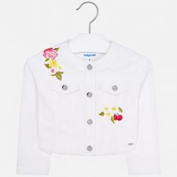 MAYORAL dievčenský prechodný kabát 3410-065 white