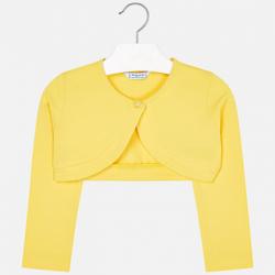 MAYORAL  dievčenské bavlnené bolero 3402-046 yellow