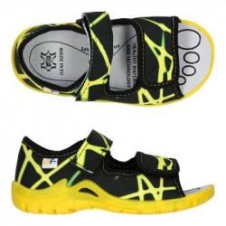 Dievčenské papuče sandále s koženou stielkou 3F SFINKS