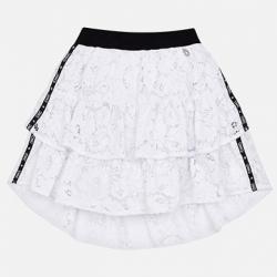 MAYORAL  dievčenská čipkovaná  sukňa 6904-087 white