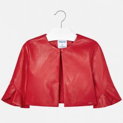 MAYORAL dievčenský kožený kabát  6405-074 red