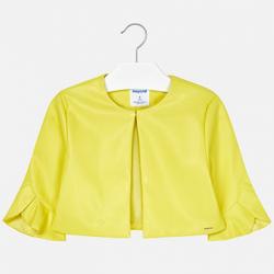 MAYORAL dievčenský kožený kabát  6405-075 citrus