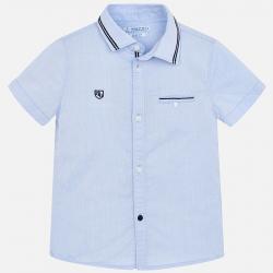 MAYORAL chlapčenská košeľa s krátkym rukávom 3129-067 Lightblue