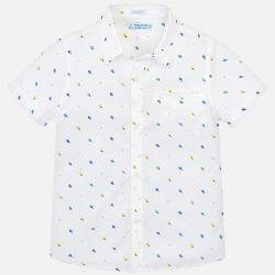 MAYORAL chlapčenská košeľa s krátkym rukávom 3131-063 White