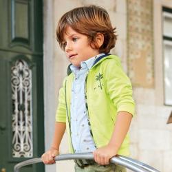 MAYORAL chlapčenská košeľa s krátkym rukávom 3131-064 Lightblue