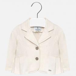 MAYORAL dievčenský kabátik lurexový 1415-069 Whit-lurex