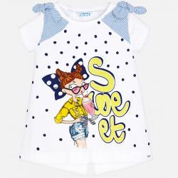 MAYORAL dievčenske tričko 3005-092 Yellow
