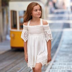MAYORAL  dievčenské šaty 6935-080 Natural