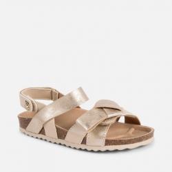 MAYORAL kožené korkové sandále 43061+45061-067 Gold