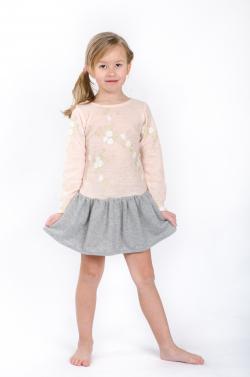 Dievčenské šaty  MM 526 pink/grey