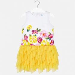 MAYORAL  dievčenské letné  šaty 6931-081 yellow