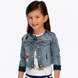 MAYORAL dievčenský rifľový kabát 3408-050 claro