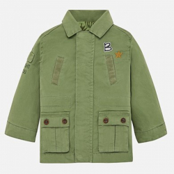 Chlapčenský  kabát  na zips MAYORAL 1441-036 sage