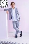 Chlapčenské bavlnené sako MM 9 grey