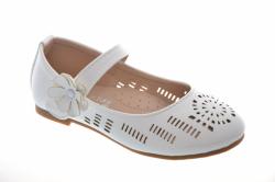Biele dievčenské balerínky HO16-4 white