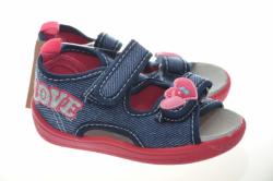 Dievčenské papučky sandálky 1436 dark blue