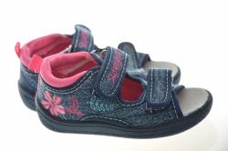 Dievčenské papučky sandálky 1433 dark blue