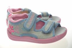 Dievčenské papučky sandálky 1433 light  blue