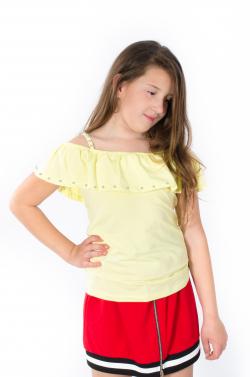 Letné tričko na ramienka MM 400 yellow