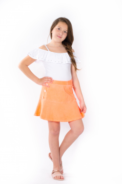 Dievčenská bavlnená sukňa NEON MM 591 neon orange
