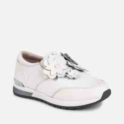 Prechodná dievčenská obuv MAYORAL biela