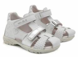 Dievčenské sandále kožené  D.D.STEP AC290-7035M white