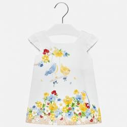 MAYORAL dievčenské šaty 1946-059 white