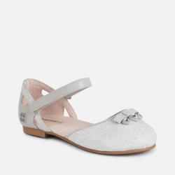 MAYORAL dievčenské balerínky 43037-015 Silver