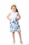 Elegantné dievčenské šaty s kvetmi MM 523 flower