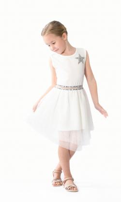 Elegantné biele šaty MM 590 white