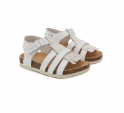 D.D.STEP korkové sandále AC051-2M white
