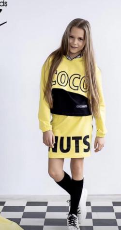 Dievčenská bavlnená sukňa  MM 525 coco nuts