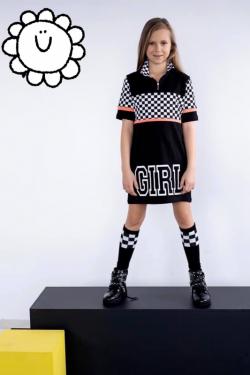 Dievčenská tunika šaty LOL MM 533 kocka girl